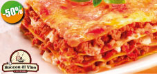 Trattoria Boccon di Vino - $130 pesos instead of $260 for 1 Lunch Special with 1 Lasagna alla Bolognese + 1 Limoncello